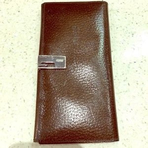 Gucci wallet brown metallic